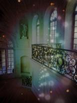 Le balcon droite de l'escalier menant à la salle des Etats du Palais des Ducs de Dijon