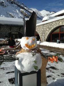 Bonhomme de neige Val d'Isère Club Med 2013