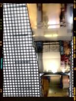 Dans l'escalator des Galeries Lafayette en levant les yeux au ciel