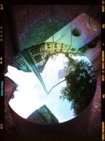 reflet maison à colombages et filtre couleur