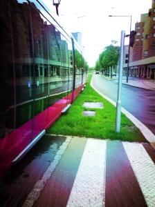 perspective tram