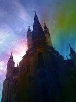 Notre Dame soleil couchant