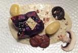 Paupiette de chou rouge aux champignons sauce au bleu.