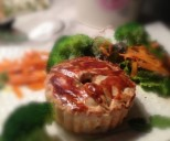 Tourte de veau et champignon et sa salade croquante